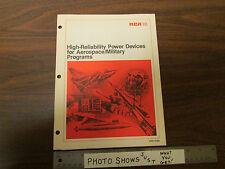 Rca Hrp-479A Catalog High Reliability Power Devices For Aerospace 1980