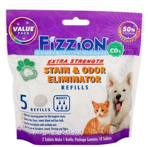 Fizzion EXTRA STRENGTH Pet Stain & Odor Remover Dog Cat Urine (5 Refill Bag)