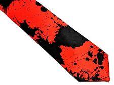 NEW Neck Tie HALLOWEEN Black Red BLOOD SPLATTER HORROR SCARY