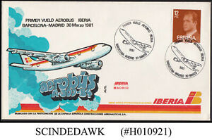 SPAIN - 1981 IBERIA AEROBUS A-300-B4 BARCELONA to MADRID - FFC