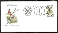 US SC # 1988 State Birds And Flowers ( Oklahoma ) FDC .HF Cachet . 2