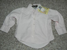 Canterbury of New Zealand Toddler Size 2 Pink Stripes Button Front Shirt NWT