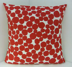 SCATTER CUSHION COVERS BRAND NEW SPOTTED RED WHITE TRENDY CUSHION COVERS