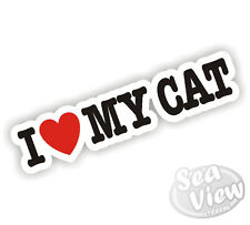 I Heart Love mon chat sticker autocollant pet
