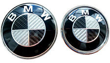 2x fits BMW Carbon BW Emblem 82mm+74mm Bonnet/Boot Badge E30 E36 E46 3 5 71