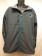 NEW San Jose Sharks MENS Adult Size XL-2XL Gray Hard Shell Full Zip Jacket