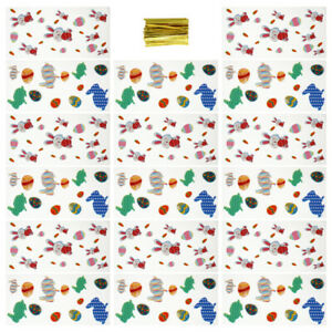 200Pcs Bags Festive Adorable OPP Candy Bags Packaging Bag Cookie Bag for Easter