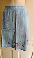 VTG handmade circus animal blue striped apron