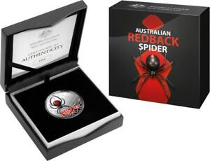2021 Royal Australian Mint Coloured Silver $5.00 Proof Redback Spider - SCARCE!