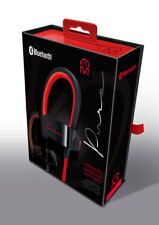 Mental Beats Pure Wireless Bluetooth Earbuds Headset With Mic - Red Black