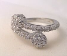 G-Filled Ladies 18ct white gold simulated diamond ring wedding engagement wrap