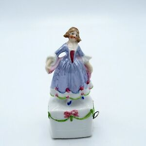 Antique Germany Porcelain Belle of the Ball Tape Measure