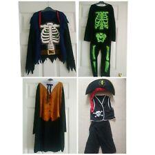 Boys Fancy dress Costume bundle halloween Skeleton pirate Etc 5-6 7-8