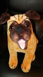 "Melissa & Doug dog plush 17"" Pug stuffed animal toy lifelike realistic"