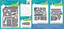 Lawn Fawn Die Set Combo ~ BUILD A HOUSE, 2 ADD-ONS, REVEAL ADD-ON, PLUS STENCIL