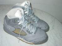 """2010 Nike Air Jordan Retro 5 """"Wolf Grey"""" Graphite Shoes! Size 10 Sold As Is!"""