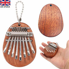 More details for 8 keys mini kalimba piano mbira sansula thumb solid wood gift toy with lanyard