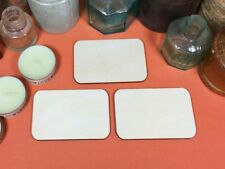 Plywood Rectangle 8.5cm x 5.5cm (3mm ply round corners) x 10