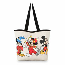 Disney Parks Mickey Mouse Through the Years Canvas Tote New with Tags