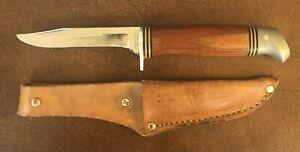 Vintage SCHRADE WALDEN NY USA CRAFTSMAN Fixed Blade Knife Leather Sheath 143