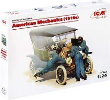 New ICM 24009  1/24 American Mechanics (1910s) 3 figures scale plastic model kit