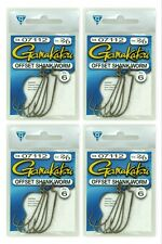 (4) Gamakatsu Packs 2/0 Offset Shank Worm Fish Hooks 07112