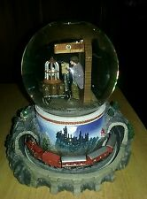 San Francisco Music Box Snow Globe Harry Potter Hogwart Express RARE!