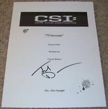 TED DANSON SIGNED CSI CRIME SCENE INVESTIGATION 73 SECONDS FULL SCRIPT w/PROOF