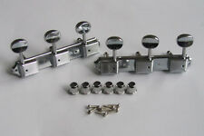 Vintage 3x3 Guitar Tuning Keys 3 on a Plate Tuners for Les Paul SG Chrome