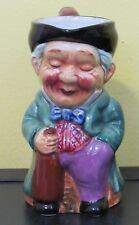 ~Vintage Character Toby Jug Drunk Tavern Man w/ Whiskey Bottle Creamer Japan~