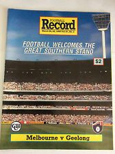 MELBOURNE Vs GEELONG AFL Football Record 1992 Rnd 2 Great Southern Stand Issue