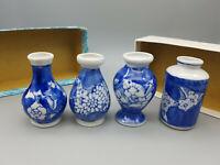Vasen mini 4 Stück Setzkasten Keramik Handarbeit ca. 6,5 cm