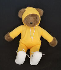 "Vintage 1979 North American Bear Company ""Jogger Bear"" in Yellow Jogging Suit"