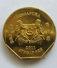 Singapore 2nd Series $1 Dollar Orchid Coin of Year 2011, A VERY NICE & FINE Coin