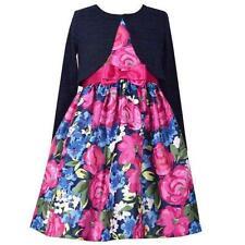 BONNIE JEAN® Little Girl 5 Navy 2-Piece Floral Jacket Dress NWT $69