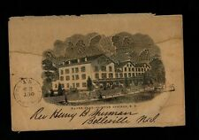 1857 CLIFTON SPRINGS NY CDS Water Cure booklet sent through mails to New Jersey