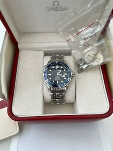 Omega Seamaster 25318000 Automatic Watch Blue 41mm Box And Papers 2006 Full Set