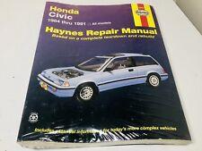 NEW Haynes Repair Manual 1985-1991 Honda Civic