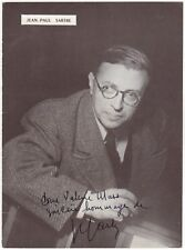 Jean-Paul Sartre (French philosopher) – scarce signed photograph