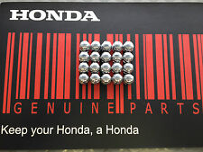 GENUINE HONDA Wheel Nut set, Chromed. 30mm Accord, Civic, CRV etc *FREE POSTAGE*