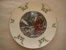 """1980 Nice Royal Doulton Christmas Plate, Forth Of A Series, 8 1/4"""" Diameter"""