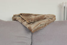 Sheepskin Shearling Rug Cozy and Warm Light Caramel Fur Patchwork Carpet Blanket