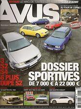 AVUS 6 AUDI Q5 S5 CAB A7 SPORTBACK S2 RS2 S3 RS4 S6 A5 COUPE NSU SPIDER WANKEL