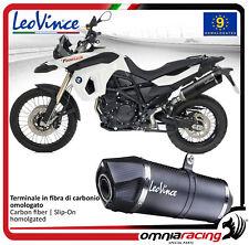 Leovince LV One carbono Tubo de Escape BMW F800GS/adventure 2008>2016