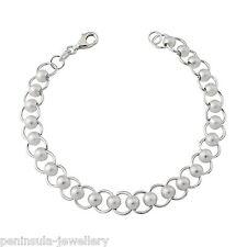 "Sterling Silver Ladies heavy Fancy Link 7.5"" Bracelet Gift Boxed"