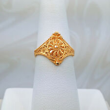 GOLDSHINE 22K Solid Yellow Gold RING Size 6.5 US/Canada Handcrafted Hallmark 916