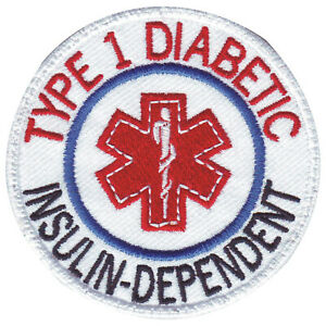 Diabetic Embroidered Patch (circular)