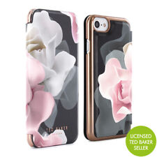 OFFICIAL TED BAKER Womens Floral Folio Case Cover for iPhone 6S 6 KNOWANE Black