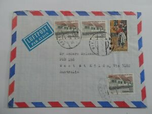 HV STAMPS : DENMARK 1980 AIR MAIL COVER USED TO VIC AUSTRALIA