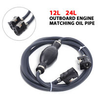 Marine Outboard Boat Fuel Pump Fuel Line Hose Assembly Oil Tube Tank Connector